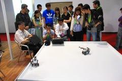Robot controlado mental Imágenes de archivo libres de regalías