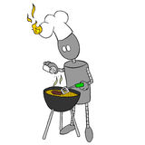 Robot cooking Royalty Free Stock Image