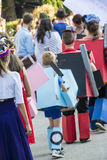 Robot costumes at the masked ball Royalty Free Stock Photography
