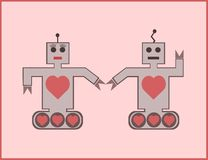 Robot couple Royalty Free Stock Image