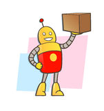 Robot courier Royalty Free Stock Photos