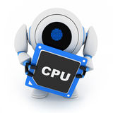 Robot and CPU. (done in 3d, cgi Stock Photography