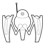 Robot crab icon outline. Robot crab icon in outline style isolated on white vector illustration Royalty Free Stock Photo