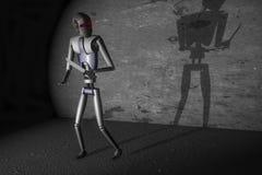 Robot criminal ilustración del vector