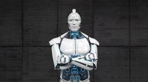 Robot Crossed Hands stock images