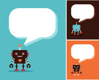 Robot cute icons and characters Royalty Free Stock Photos