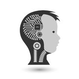 Robot cybernetic organism Royalty Free Stock Photo