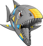 Robot Cyborg Shark Vector Stock Photography