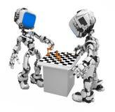 Robot d'écran bleu, joueurs d'échecs illustration de vecteur