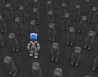 Robot d'écran bleu, un activé Photos stock