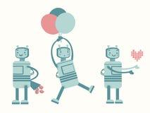 Robot d'amour Photos stock
