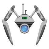 Robot d'Android avec les mains en verre de bouton et de pince Images stock