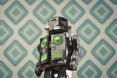Robot d'annata del giocattolo della latta Fotografia Stock
