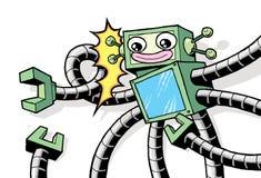 Robot d'annata di retro stile con le armi robot Fotografia Stock