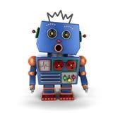 Robot d'annata sorpreso Fotografia Stock Libera da Diritti