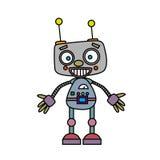 Robot d'annata sveglio Illustrazione di vettore Fotografia Stock Libera da Diritti