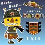 Robot d'armée illustration stock