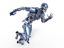 Robot. 3D CG rendering of a robot Stock Image