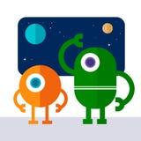 Robot d'espace illustration stock