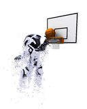 robot 3D jouant le basket-ball Photographie stock