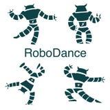 Robot dancer. Dancer droid and robots dance royalty free illustration