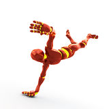Robot, dancing. Illustration of the dancing robot on white background royalty free illustration
