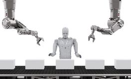 Robot dans l'entrepôt illustration libre de droits