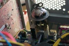 Robot dans l'ordinateur Photo libre de droits