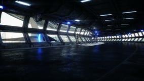 Robot dans le tonnel de Sci fi Concept d'avenir Animation 4K r?aliste illustration de vecteur