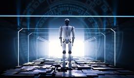 Robot dans le tunnel illustration stock