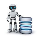 Robot and database Royalty Free Stock Images