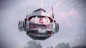 Robot de balayage de vol illustration de vecteur