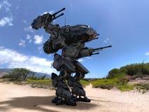 Robot de bataille Photos libres de droits