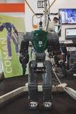 Robot de Coman en la exhibición en Solarexpo 2014 en Milán, Italia Imagen de archivo libre de regalías
