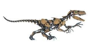 Robot de dinosaure à un arrière-plan blanc illustration de vecteur