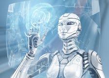 Robot de femelle de Fembot illustration de vecteur