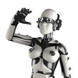 Robot de femme d'acier et du plastique blanc Photos stock