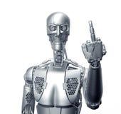Robot de humanoïde d'isolement sur le blanc illustration stock