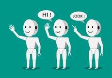 Robot de humanoïde de sourire pour la présentation, vecteur Image libre de droits