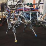 Robot de HyQ en la exhibición en Solarexpo 2014 en Milán, Italia Fotografía de archivo