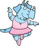 Robot de la bailarina del dinosaurio de la historieta Fotos de archivo