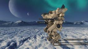 Robot de la batalla ilustración del vector