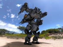 Robot de la batalla Fotografía de archivo libre de regalías