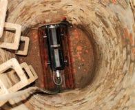 Robot de la cámara para una inspección de la alcantarilla de manera operacional fotos de archivo libres de regalías