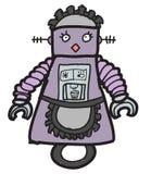 Robot de la criada de la historieta Imágenes de archivo libres de regalías