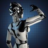 Robot de la mujer del acero y del plástico blanco Fotos de archivo