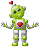 Robot de la tarjeta del día de San Valentín de la historieta stock de ilustración