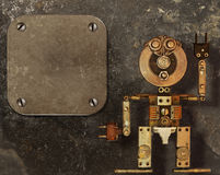 Robot de las piezas de metal Imagen de archivo libre de regalías