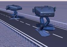 Robot de marche de combat photo 6 Photographie stock libre de droits