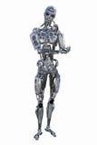 Robot de pensamiento de la inteligencia artificial Imagen de archivo
